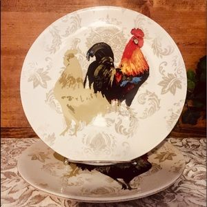 Nobel Excellence Ironstone Plates 'Poulet'